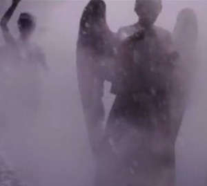 Time of the Doctor Weeping Angels in Snow
