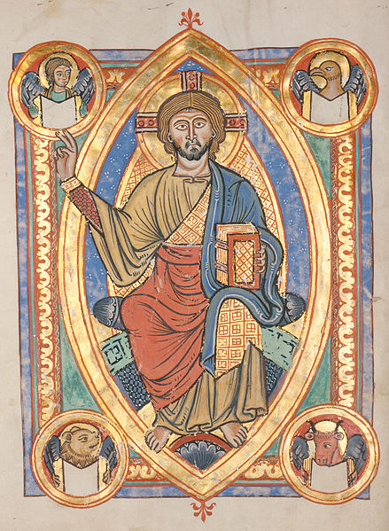 Codex Brushal, c1220. Christ in Majesty