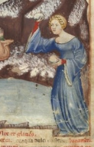Snowball fight c. 1390-1400.