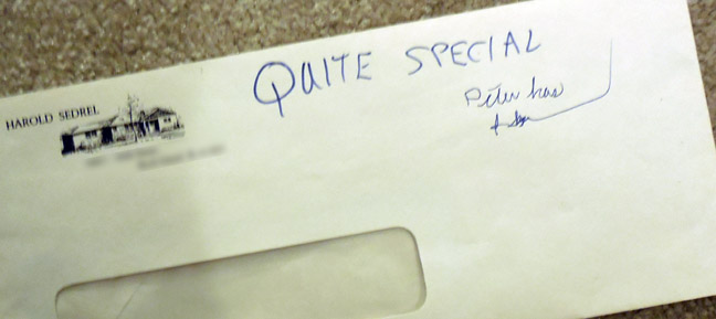 Quite Special Envelope from Grandpa