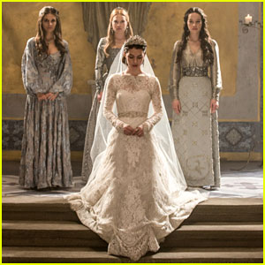 Mary in Reign in Wedding Dress