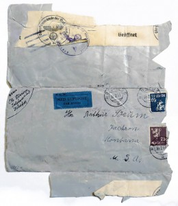Norwegian envelope with nazi stamps