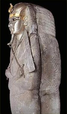 Finely worked silver coffin of Psusennes I