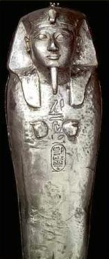 Poorly worked silver coffin of Sheshonq II