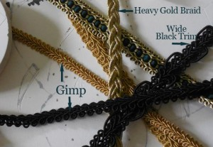 Types of Braid Used In The Steampunk Loki Project