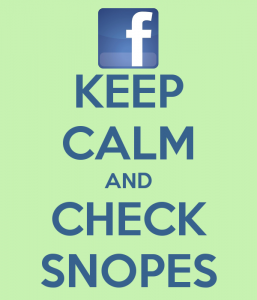 Keep calm and check snopes