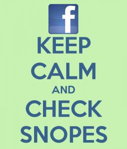 Keep calm and check snopes
