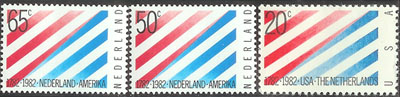 Stamp Celebrating Treaty between America and the Netherlands