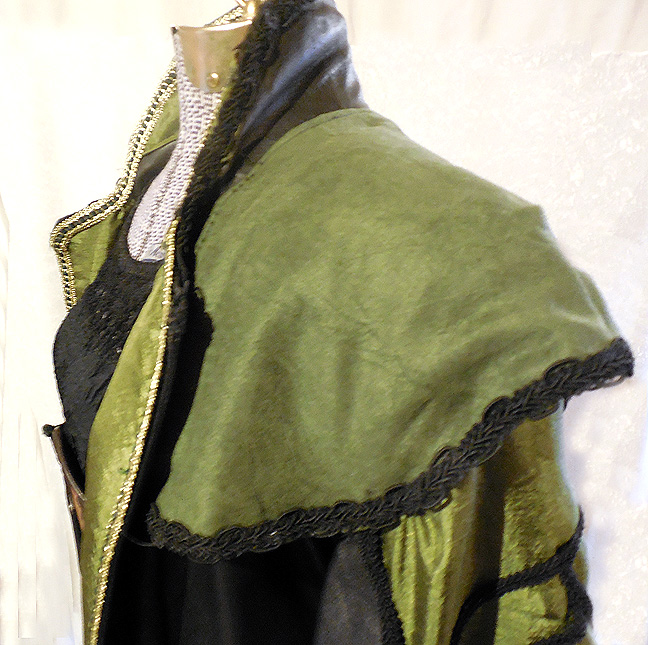 Shoulder piece on Steampunk Loki Coat