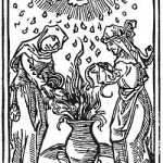 Witches at a Sabbat around a Culdron