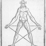 Pentagram representing the five wounds of Christ.