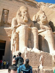 Two statues of Ramesses at Abu Simbel