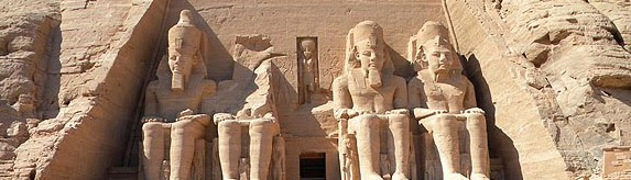 Outside of Abu Simbel Temple