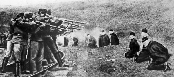 Austrians shooting Serbian POWs.