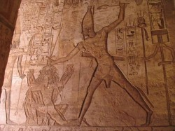 Ramessess II vanquishing in enemies