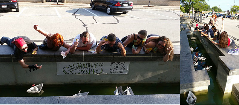 GISHWHES: Fountain race