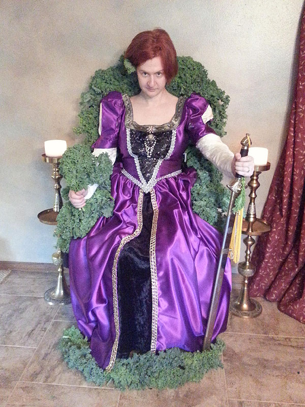 GISHWHES Kale Throne