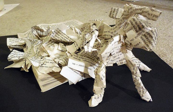 Novel Life form from paper mache