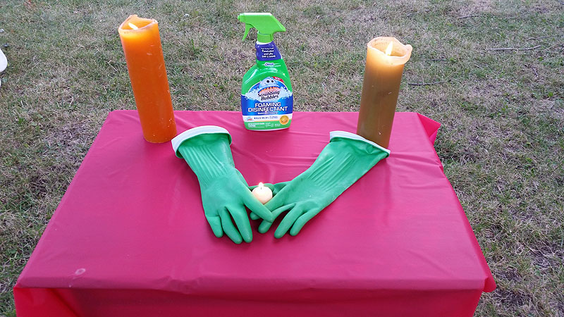 GISHWHES rubber glove tribute