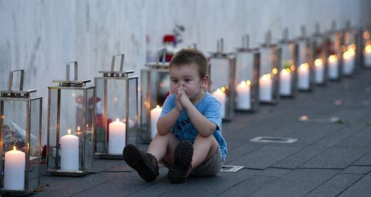 Child at 9/11 rememberance