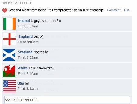 Scotland's Facebook post