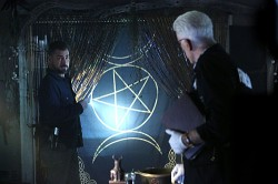Giant triple moon and pentagram on CSI episode
