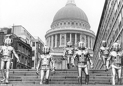 "Cybermen in ""The Invasion,"" 1969"
