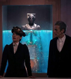 "Cyberman being revealed in ""Dark Water"" on Dr. Who"