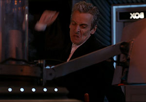 Doctor discovering Missy has lied about Gallifrey