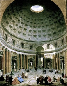 18th century painting of the Pantheon