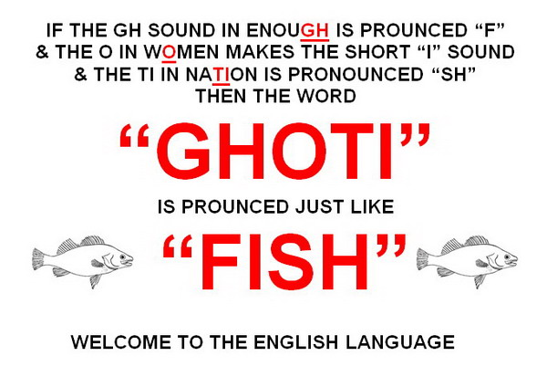 """Ghoti"" is pronounced just like ""Fish"""