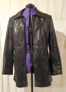 Leather jacket used as base of bolero project
