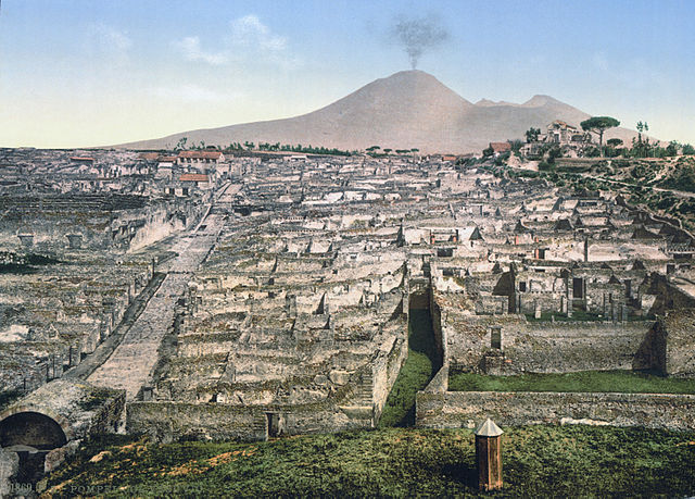 Pompeii excavation site