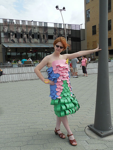 Construction paper dress, gishwhes 2015