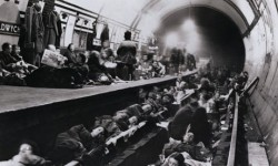 Sheltering in the subway, London Blitz